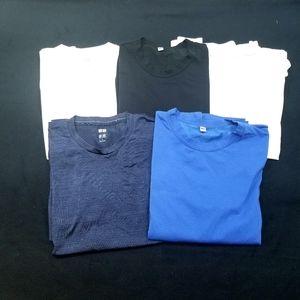 UNIQLO 5 PC Active Shirt Lot
